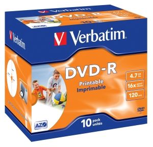 Verbatim DVD-R medij 4.7GB, 10x (43521)