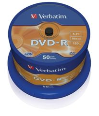 VERBATIM DVD-R 4.7GB 16x, CakeBox, 50 kusov
