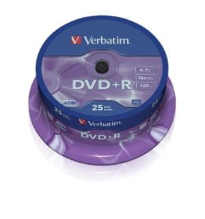 Verbatim DVD+R 4,7GB 16x spindl 25pck/BAL