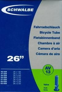 "Schwalbe Duše pro horské kolo 26"" autoventilek (AV13) Set 2ks"