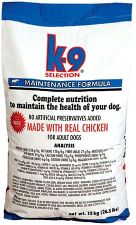 K-9 Selection Maintenance Formula kutyatáp - 12kg