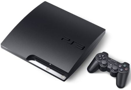 SONY PlayStation 3  Black - 120GB (PS3 Slim)