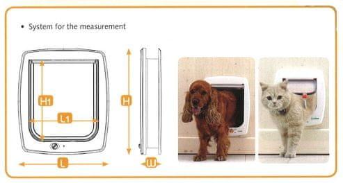 Ferplast vrata za srednje velike i velike pse Swing 15