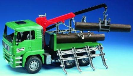 Bruder kamion s hlodi, 43 cm