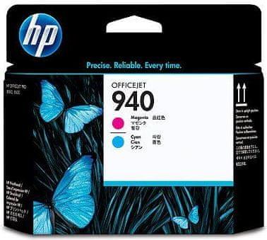 HP C4901A, tiskové hlavy, č.940, azurová a purpurová