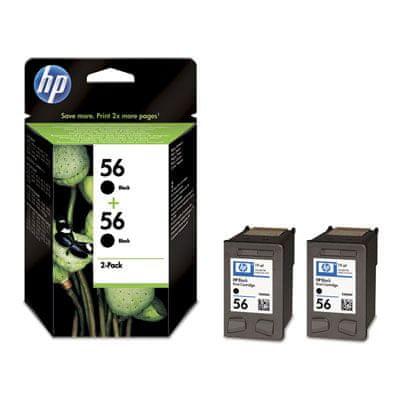 HP náplň č.56, černá, dvojité balení (C9502AE)