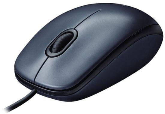 Logitech M100 optična miška, črna