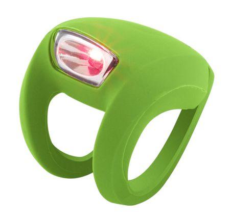 Knog zadnja luč Frog Strobe LED, svetlo zelena
