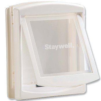 Staywell Drzwiczki z przezroczystą klapą, Średnie, biały