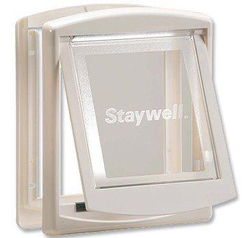Staywell dvířka s transparentním flapem malá bílá