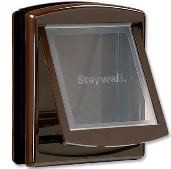 Staywell Drzwiczki z przezroczystą klapą, Średnie, brązowy