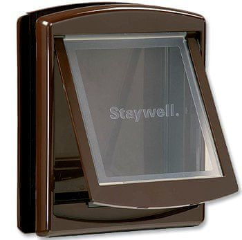 Staywell dvířka s transparentním flapem střední hnědá