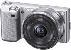 Sony fotoaparat NEX-5AS 16 mm, srebrn