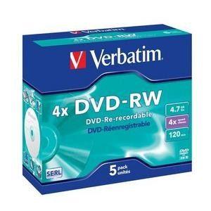 Verbatim DVD-RW 4,7GB 4x box 5pck/BAL