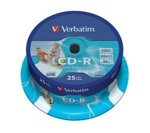 Verbatim CD-R 80 52x PRINT. spindl 25pck/BAL (43439)