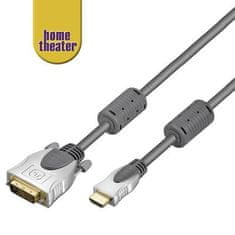 Home Theater HQ kabel HDMI - DVI, M/M, 5m