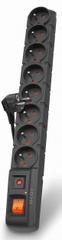 ACAR S8 8-as elosztó, 1,5 m, Fekete