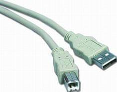 PremiumCord kábel USB 2.0, A-B, 2m