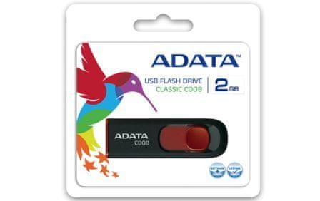 A-Data C008 32GB, USB 2.0, czarny