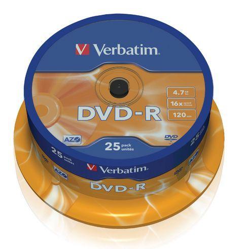 Verbatim DVD-R 4,7GB 16x spindl 25pck/BAL (43522)
