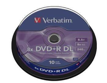 Verbatim DVD+R dual layer medij 8,5 GB 8x (43666), 10 na osi