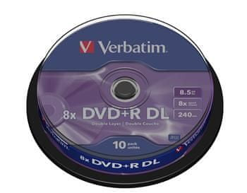 VERBATIM DVD+R 8,5GB 8x Double Layer spindl 10pck (43666)