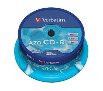 Verbatim CD-R 80 52x CRYST. spindl 25pck/BAL (43352)