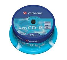 Verbatim CD-R 80 52x CRYST. spindl 25pck/BAL