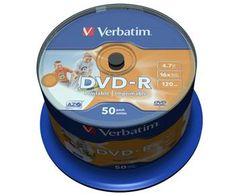 Verbatim DVD-R 4,7GB 16x PRINT. spindl 50pck/BAL