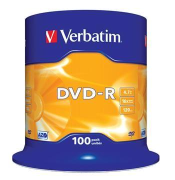 Verbatim DVD-R 4,7GB 16x spindl 100pck/BAL (461669)