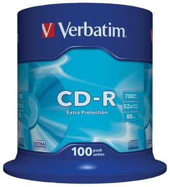 Verbatim CD-R 80 52x EXTRA spindl 100pck/BAL (43411)