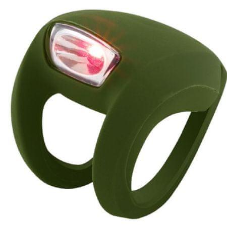 Knog zadnja luč Frog Strobe LED, olivno zelena
