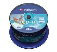 Verbatim CD-R 80 52x PRINT. spindl 50pck/BAL
