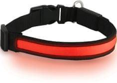 DOG trace ogrlica svjetleća, narančasto/crvena