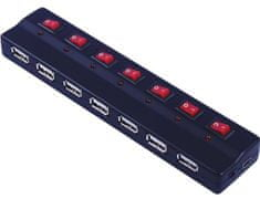 PremiumCord PremiumCord USB 2.0 HUB 7-portový s ext. napájaním a vypínačmi portov
