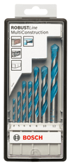 Bosch 7-delni komplet večnamesnkih svedrov Robust Line CYL-9, Multi Construction (2607010543)
