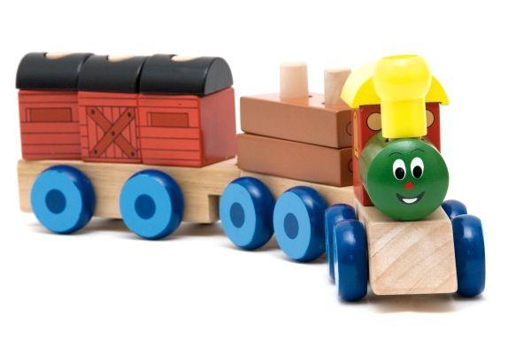 "Woody Skládací vlak ""Mašinka"", 2 vagony"