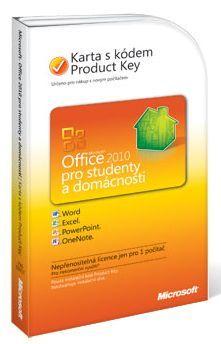 Microsoft Office 2010 pro studenty a domácnosti - Karta s instalačním kódem