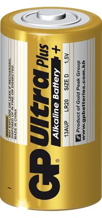 GP baterija ULTRA PLUS LR20, 2 kosa