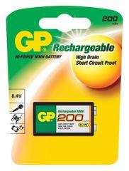 GP polnilna baterija GP ReCyko+ 200 Series, 200 mAh, 9 V, 1 kos
