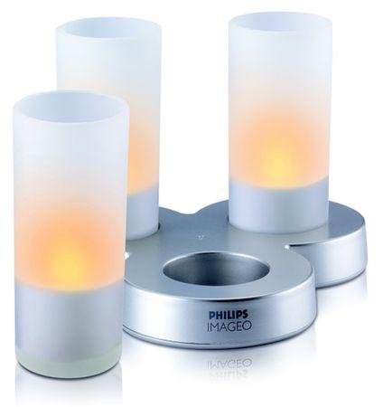 Philips Glass CandleLights oranžová (69108/60/PH)