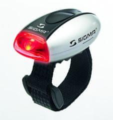 Sigma Micro lučka, srebrna/rdeča LED