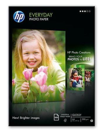 HP Fényes fotópapír, 100 lap, A4, 210 × 297 mm
