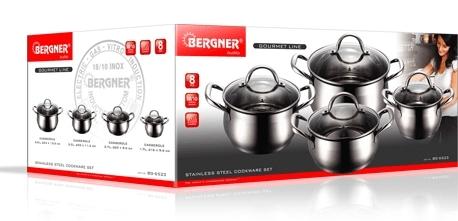 Bergner Sada hrnců 8 ks (BG-6523)