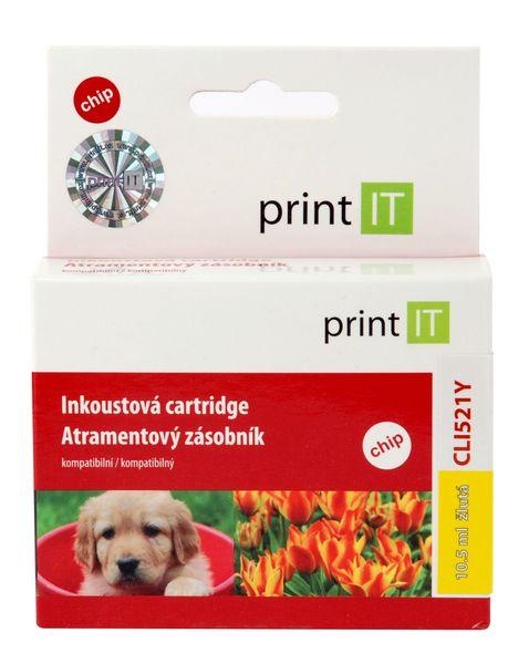 Print IT CLI 521y, žlutá (PI-63)