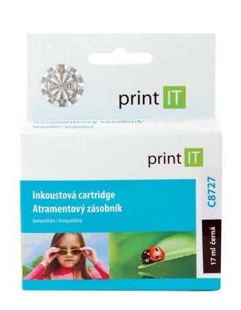 Print IT C8727 Tintapatron, Fekete