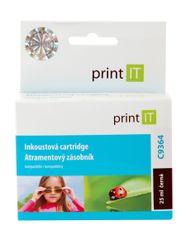 Print IT C9364 Tintapatron, Fekete