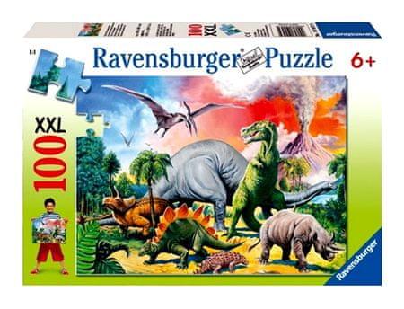 Ravensburger Puzzle Pośród Dinozaurów XXL 100 el.