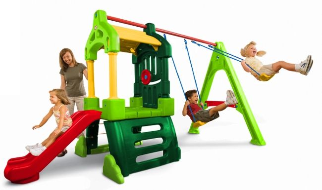 Little Tikes Hrací centrum Clubhouse Swing Set Natural
