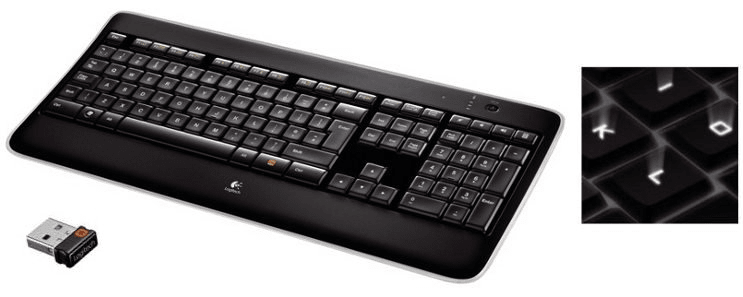Logitech Wireless Illuminated Keyboard K800, US (920-002394)